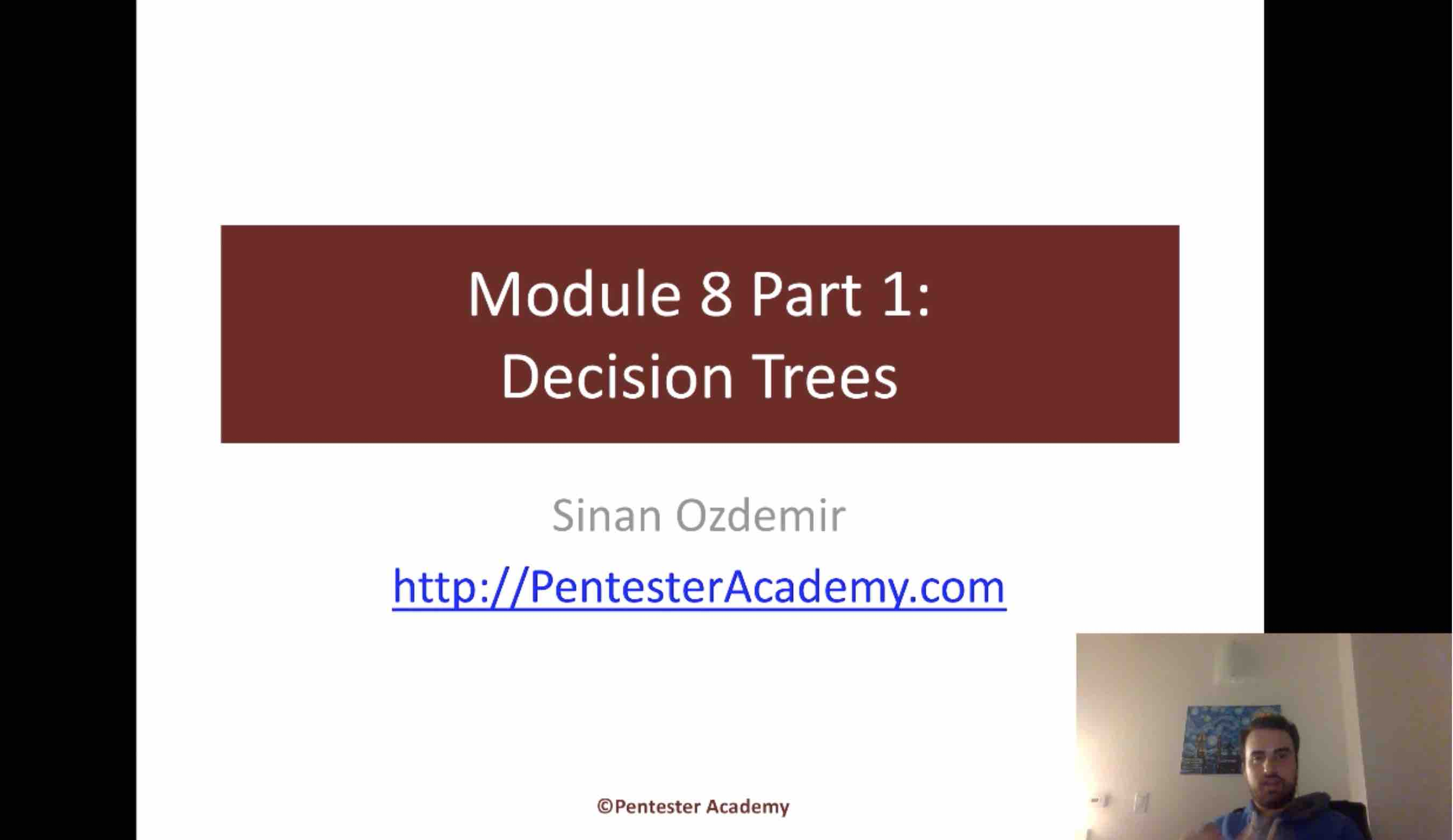 Module 8: Decision Trees Part 1