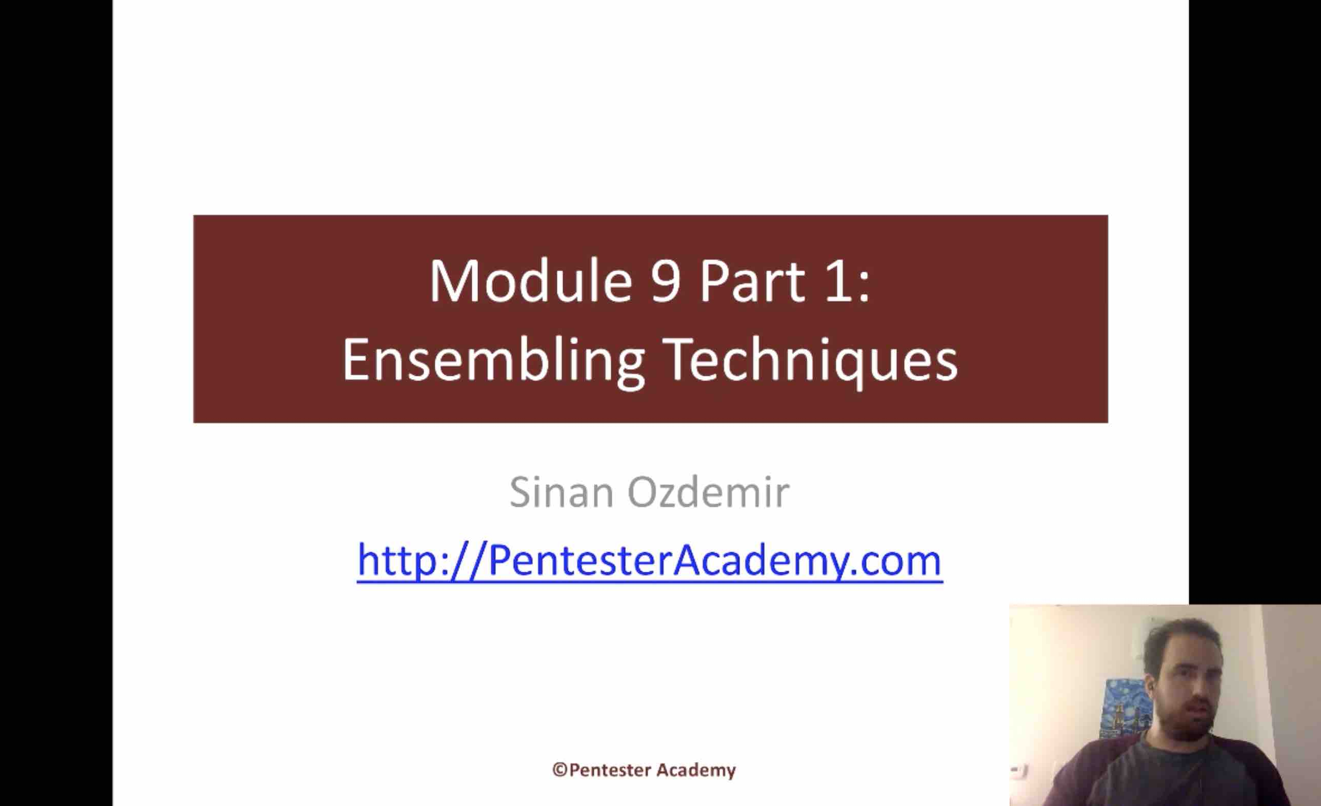 Module 9: Ensembling Techniques Part 1