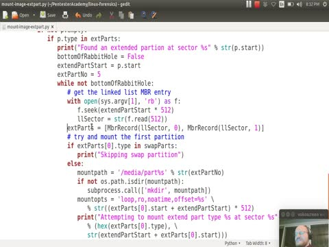 Mounting Images: Mounting Extended Partitions with Python