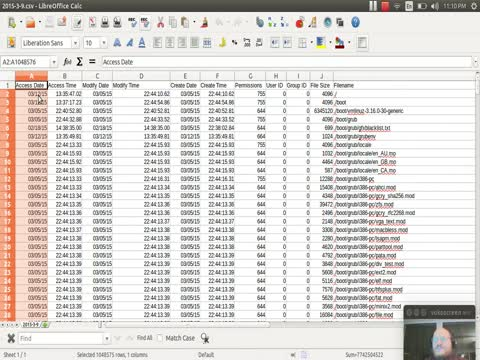 Mounting Images: Building a timeline as a CSV part 2
