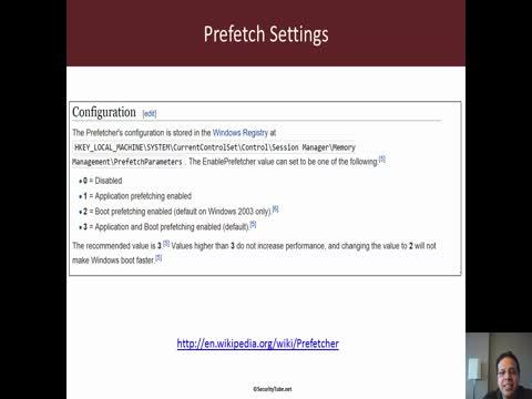 Anti-Forensics: Disabling Windows Prefetch