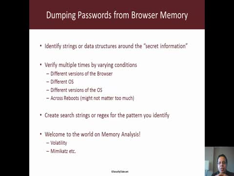 Dumping Passwords from Browser Memory