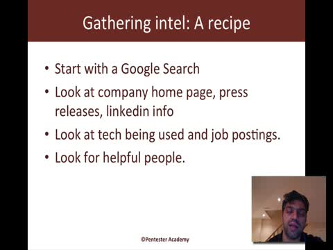 Intel Gathering Recipes