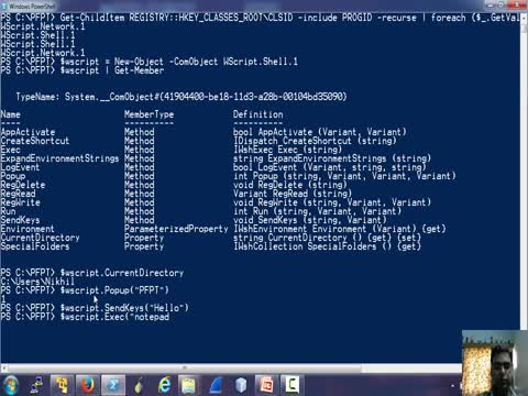 COM and Powershell