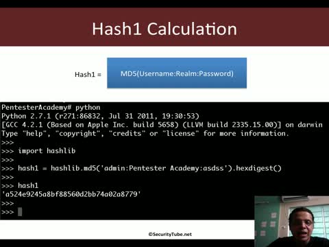 HTTP Digest Auth Hashing (RFC 2069)