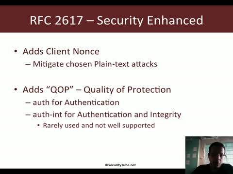 HTTP Digest Authentication (RFC 2617)