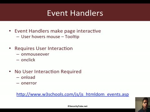 XSS via Event Handler Attributes