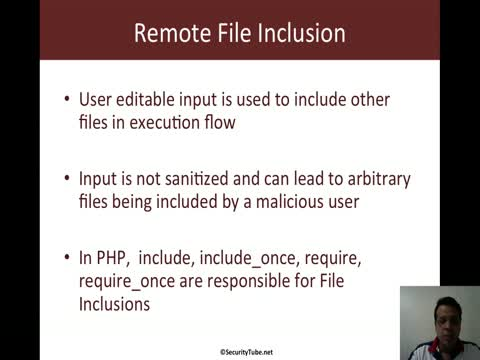 Remote File Inclusion Vulnerability Basics