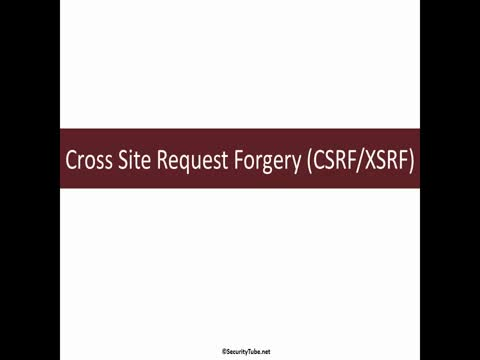 Cross Site Request Forgery Basics