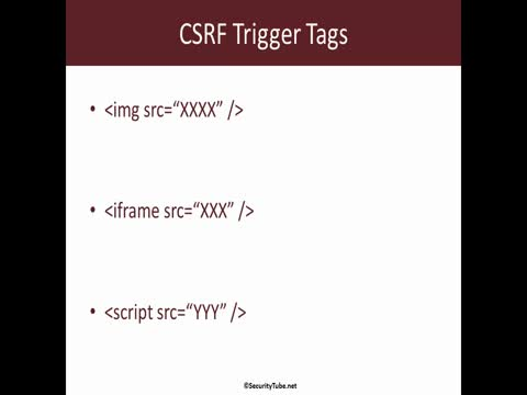 Cross Site Request Forgery Trigger Tags