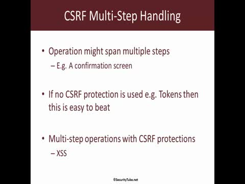 CSRF Multi-Step Operation Handling