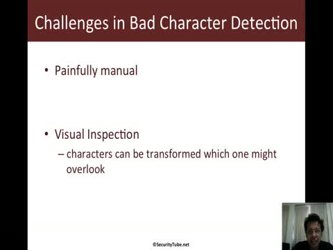 Automating Bad Character Detection