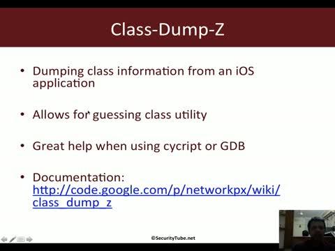 Module 2: Class-Dump-Z