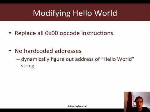 Module 2: HelloWorld Shellcode JMP-CALL-POP Technique