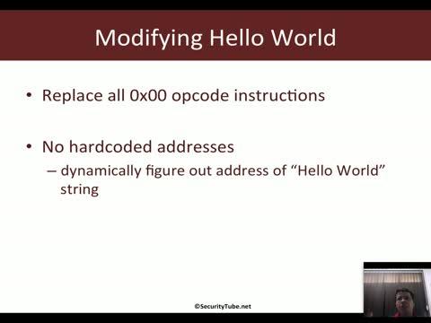 Hello World Shellcode using JMP-CALL-POP Technique