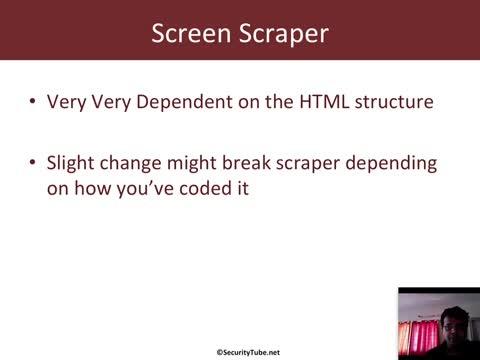 Module 4: Coding a Screen Scraper