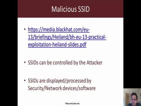 Malicious SSID: SQL Injection