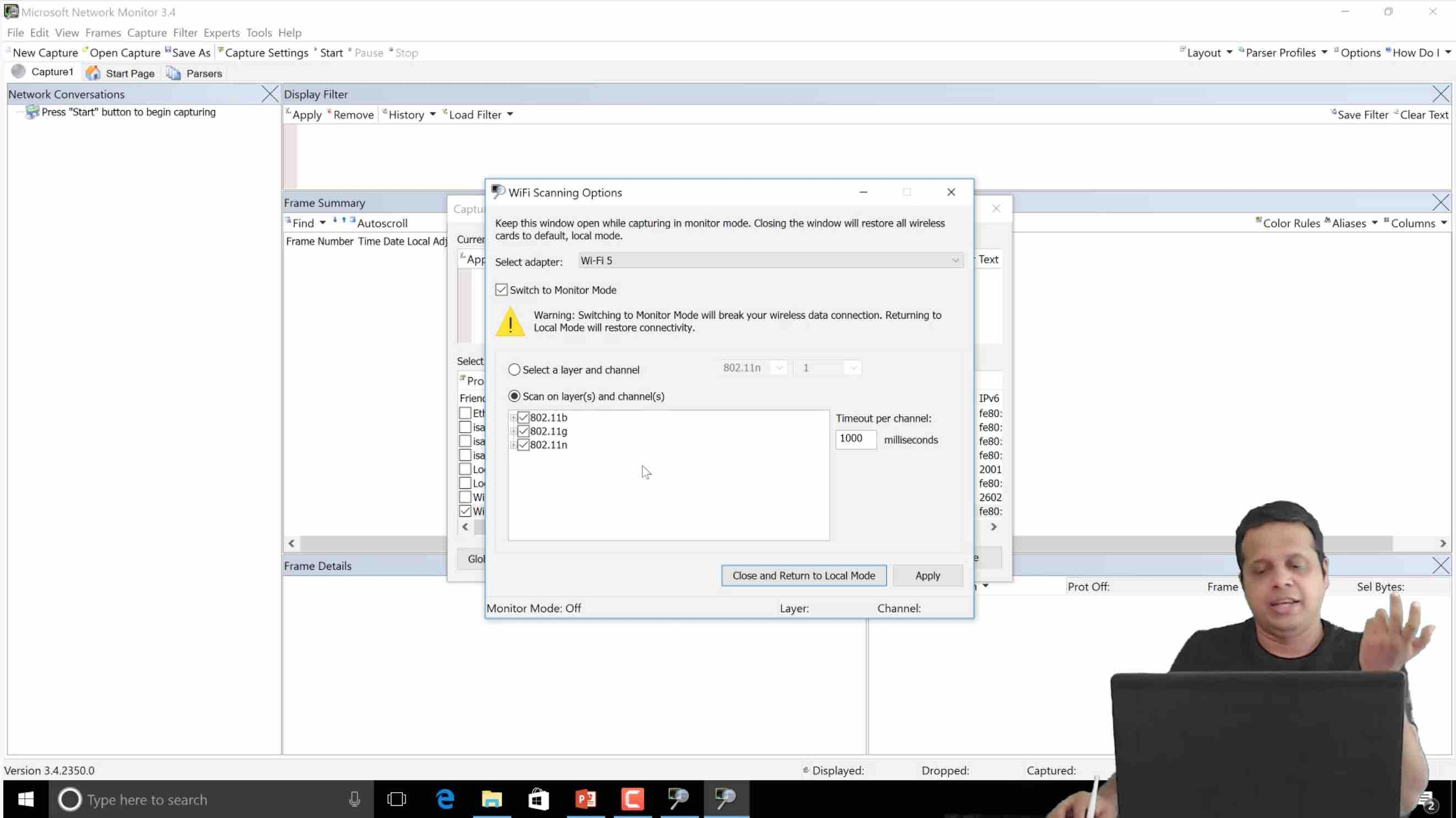 802.11n Monitoring using Windows Netmon