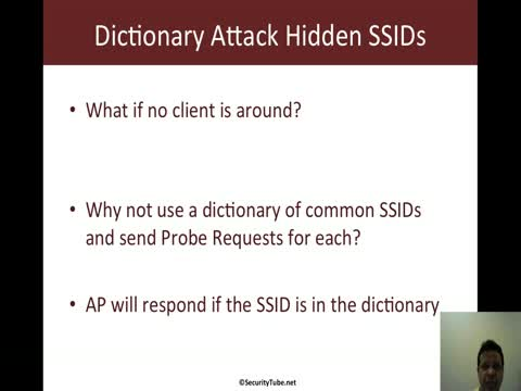 Dictionary Attack on Hidden SSID Networks