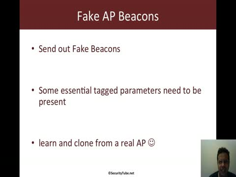 Scapy: Fake AP Beacons