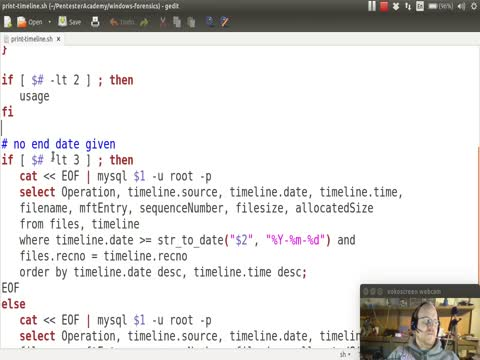 Creating Timelines Part 5: Bash Script to Create Timelines